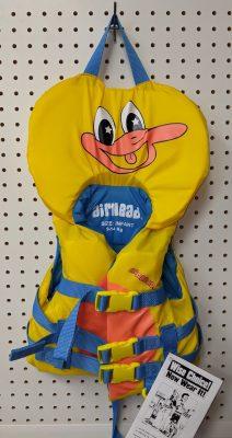 gilet de sauvetage pour enfant, motif canard